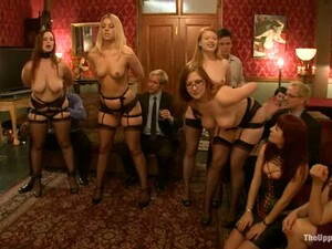 Four Booty Babes In Stockings Are Being Abused And Fucked Hard