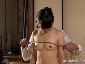 Kinky Asian Slave Girl In Rope Bondage