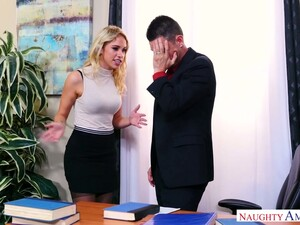 Horn-mad Strict Blonde Boss With Juicy Tits Khloe Kapri Wanna Ride Dick