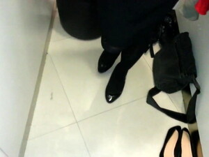 Black Patent Pumps With Pantyhose Teaser 11