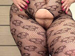 Foot Fetish With Fat Legs. Appetizing Bbw Dressed A Sexy Costume