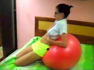 Naked Yoga Pussy Show Touch Young Pussy Gymnactic Ball Young Cutie Doing Yoga On Her Bed. Naked Gym