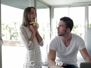 Lovely Girlfriend Foxy Di Is Eating Banana Erotically In Front Of Her Boyfriend