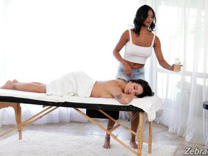 Enlivening Lesbian Massage With Karlee Grey And Nia Nacci