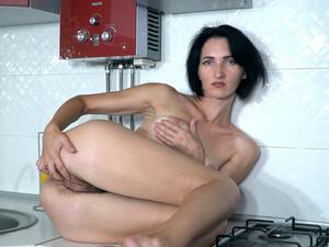 Aglaya Enjoys Masturbating In Her Kitchen - Compilation - WeAreHairy