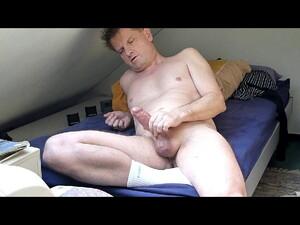 Cumming On Bed