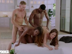 Swinger Couple In Hot Passionate Foursome - Ana Foxxx, Little Caprice And Jason Brown