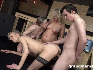 Young Man Fucks Three Sexy GILFs And These German Women Are Insatiable