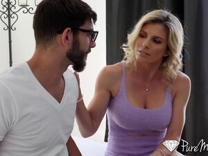 Fit Stepmom Helps Her Stepson Get Over A Breakup By Having Sex With Him