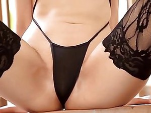 Softcore Asian Swimsuit Stocking Tease