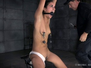 Pain Craving Brunette Has A Blast While Being Tied Up
