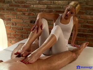 Handsome Blonde Uma Pleasures Stiff Dick Of Her Horny Client