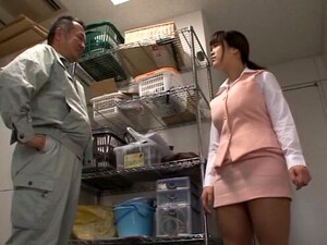 Brunette Miyuki Matsushita Loves Jerking A Dick With Her Boobs