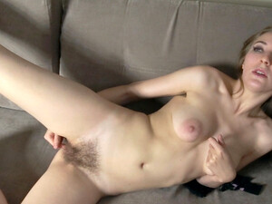 Lavatta W Strips Naked And Masturbates On Her Sofa - Compilation - WeAreHairy