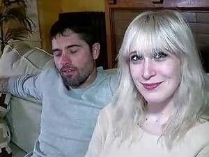Chubby Blonde Woman, Susan Is Having Wild Sex With Her Step- Son, In The Living Room