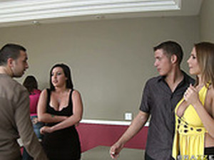 Quick Date With Memphis Monroe & Alanah Rae Turns Into A Group Sex