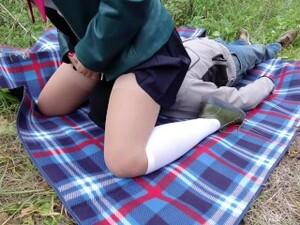 Schoolgirl Femdome Facesitting White Knee Socks Feet Foot Fetish