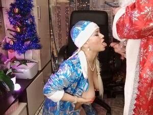 Горячий трах Снегурочки, сосулька в киске и посох Деда Мороза! Всех со Cтарым Новым Годом! ))