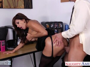 Married Top Manager Francesca Le Bangs Handsome Employee Right On The Table