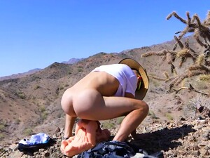 Funny Guy Fucks Sex Toy And Girlfriend On A Mountain