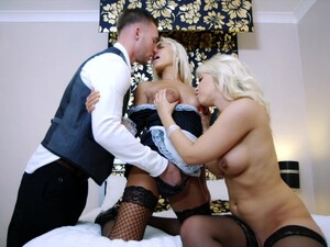 Blondes Share The Dick And The Sperm Load