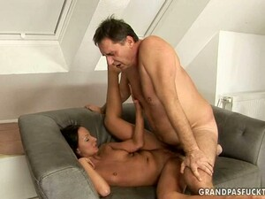 Fat Geezer Gets Some Kinky Action With A College Girl