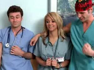 Hot Blonde Elliot Reid Gets Banged By Two Of Her Hospital Peers