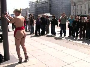 German Bitch Gets Tortured And Fucked In Public