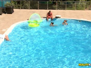 Pool Party Becomes A Memorable & Sexually Intense Foursome