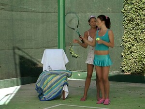 Sporty Girlfriends Have A Lesbian Hookup After Tennis Practice