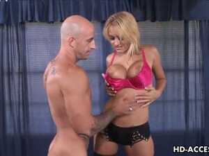 Super Hot Blonde Slut Gets That Mouth And Those Tits Working!