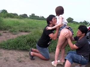 Kawaii Japanese Gal Mao Mizusawa Enjoys Outdoor Sex Till Her Pussy Is Creampied
