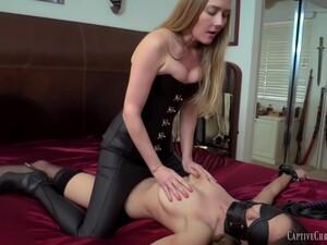 Leathered Lesbian Domination - Fetish Amateur Femdom With Spanking