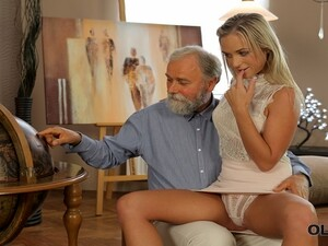 VIP4K. Old Stepdad Spends Wonderful Time With Adorable Blonde