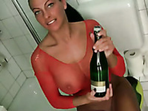 Just A Bottle Of Champagne For The Pleasures Of My Freaky Milf GF