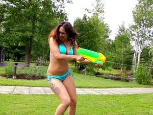 Outdoors Lesbian Video With Shana Lane And Leena Rey Scissoring