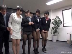 Gadis cantik,Seks grup,Porno Jepang,Ruang kantor,Pesta seks