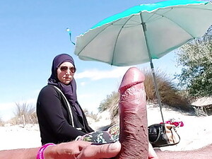 I Shocked This Muslim By Pulling My Cock Out At The Beach!!