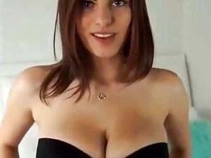 Big Boobs Amateur Girl Swallows Cum
