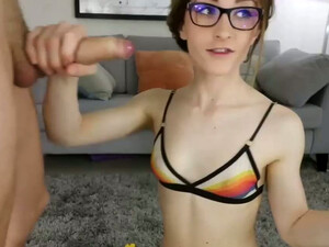 This Pale Pretty Teen Has Absolutely No Regrets About Sucking My Dick On Cam