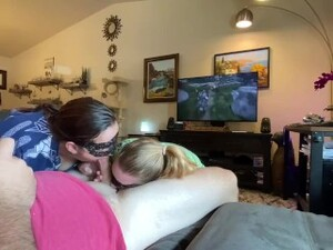 Distracting Him By Sucking His Dick And Licking His Ass While He Plays His Video Games