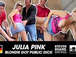 GERMAN MILF JULIA PINK: TWO CUMSHOTS IN PUBLIC: TWO FUCKERS Share A Blonde MILF! StevenShameDating