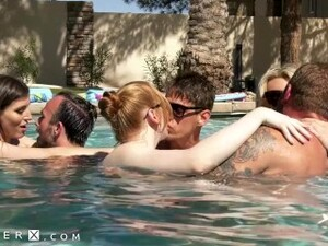 GenderX - Pool Party Turns Into Wild Trans Orgy