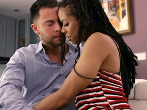 Black Panther Kira Noir Is Making Love With Her White Lover With Big Dick