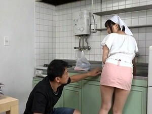 Busty Japanese Maid Gets Her Pussy Licked And Fucked From Behind