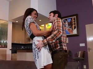 Skinny Girl Cece Stone Moans While Getting Fucked On The Sofa