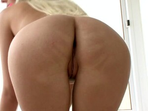 Amazing Blonde Babe Fucking Her Pussy And Asshole With A Dildo