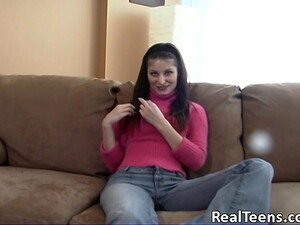 Pretty Cowgirl In Jeans Fingering Her Pussy Immensely