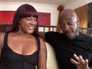 Ebony Tramps Coffee Brown And Natalie Evans Share A BBC Indoors