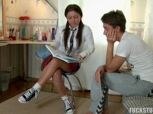 Schoolgirl Called Stonell Is About To Have Her Asshole Nailed Hard